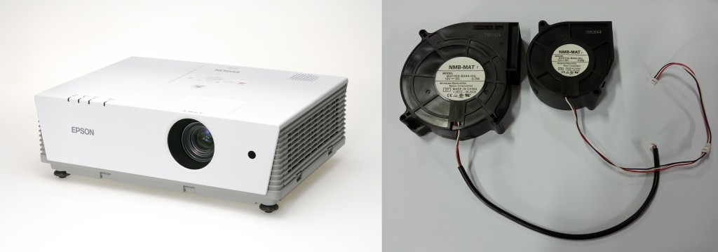 Epson EMP 6100 Projector Snail Shell Fan Spare Part Big Model: NMB-MAT BG1002-B044-00L DC12V 0.75A and Small Model: NMB-MAT BG0703-B044-00L DC12V 0.38A